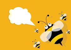 Blank frame and bee Stock Image