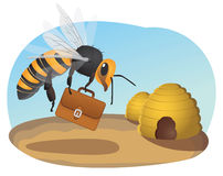 Bee with briefcase Stock Photography