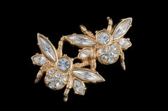 Bee brooch Royalty Free Stock Images