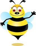 Bee cartoon. Illustration of cute bee cartoon Stock Photo