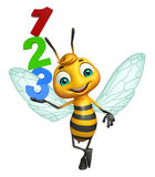 Bee cartoon character with 123 sign. 3d rendered illustration of Bee cartoon character with 123 sign vector illustration