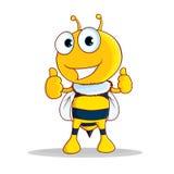 Bee cartoon Stock Image