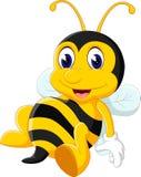 Bee cartoon flying Royalty Free Stock Photos