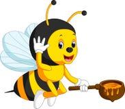 Bee cartoon. Illustration of cute bee cartoon Royalty Free Illustration