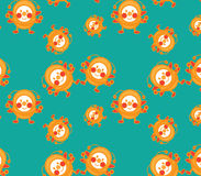 Bee cartoon seamless pattern Royalty Free Stock Images