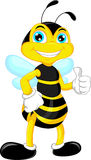Bee cartoon thumb up Royalty Free Stock Photography