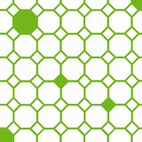 Bee cells. Green octagons and squares on the white background Royalty Free Stock Photos