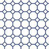 Bee cells. Dark blue on edges cells on the white background Royalty Free Stock Images