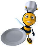 Bee chef. Fun bee, 3d generated picture Stock Image