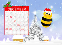 Bee at Christmas Royalty Free Stock Images