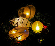 Bee Christmas lights Royalty Free Stock Images