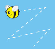 Bee Chubby Buzz. Chubby bee character flying with buzz trail Stock Photography