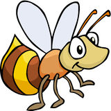 Bee Color. Cartoon artwork line-art Stock Photography