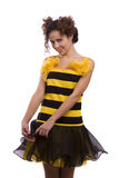 Bee costumes woman. Royalty Free Stock Photos