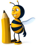 Bee with a crayon vector illustration