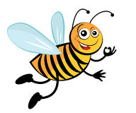 Bee. Cute cartoon bees Stock Image