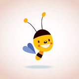 Bee. Cute little bee character, he is just adorable Royalty Free Stock Images