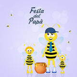 Bee dad for Father's day. Illustration pf bee dad for Father's day vector illustration