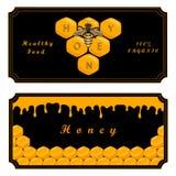 Bee eat honey Royalty Free Stock Photos