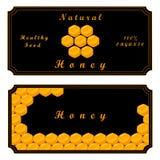Bee eat honey Stock Photo