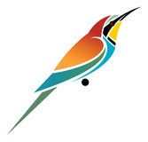 Bee-eater. European Bee-eater - vector illustration Royalty Free Stock Photography