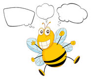 A bee with empty callouts Stock Images