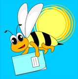 Bee and exercise book Stock Image