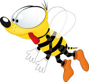 Bee from a fairy tale Stock Photos