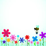 Bee with flowers Royalty Free Stock Images