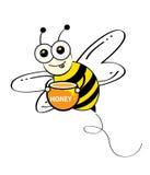 Bee. Flying cartoon illustration style Royalty Free Stock Photo