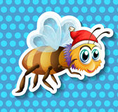 Bee flying Royalty Free Stock Photography