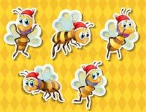 Bee flying Stock Photo