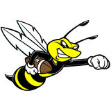 Bee Football Mascot Royalty Free Stock Image
