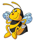 Bee Funny Cartoon Stock Photo