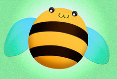 Bee. Funny honey cheerful happy bee Royalty Free Stock Photography