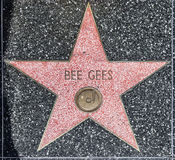Bee Geess Stern auf Hollywood-Weg stockbild
