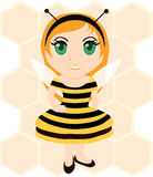 Bee girl Stock Photography