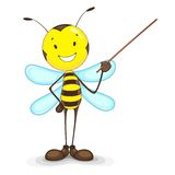 Bee giving Presentation Stock Photography