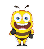 Bee giving thumbs up. Clipart picture of a bee cartoon character giving thumbs up Royalty Free Stock Photography