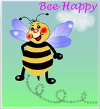 Bee happy,little Bee. Little Bee,say-Bee Happy stock illustration