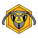 Bee head logo Royalty Free Stock Photography