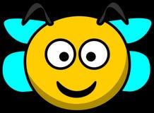 Bee, Head, Smile, Wings Royalty Free Stock Image