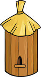 Bee hive. Cartoon illustration of farm bee hive vector illustration