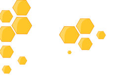 Bee Hive and Bees Transition in Alpha Channel vector illustration
