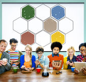 Bee Hive Honey Community Teamwork Concept Stock Images