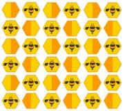 Bee hive pastel cartoon background vector Stock Photos