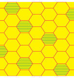 Bee Hive Pattern. A depiction of bee hive illustrated into organized seamless pattern stock illustration