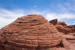 Bee Hive Rock. At the Valley of Fire State Park outside of Las Vegas Nevada Stock Photo
