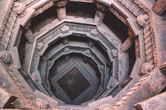 Dada Harir ni vav (stepwell-India). Top angle of monument called dada hari ni vav of Ahmedabad city of India. Vav literal meaning in english is step well. This Royalty Free Stock Image