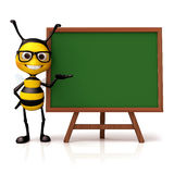 Bee hold and green board Stock Photo